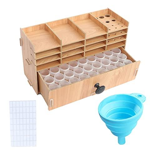 perfeclan Caja de Almacenamiento para cajones de contenedores de Cuentas de arroz de múltiples Capas para Dormitorio, baño, hogar, balcón - Estante de Almacenamiento n. ° 2