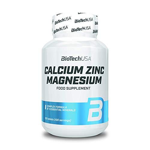 BioTechUSA Calcium-Zinc-Magnesium, 100 Tabletten