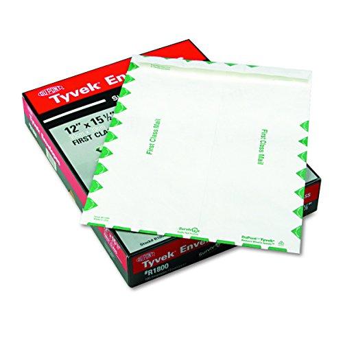 Survivor R1800 Tyvek USPS First Class Mailer, 12 x 15 1/2, White (Box of 100)