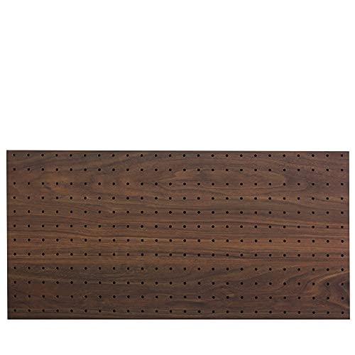 光(Hikari) ウッディボード パンチングボード 有孔ボード 910x600x5.5mm ダークブラウン 穴ピッチ:25mm