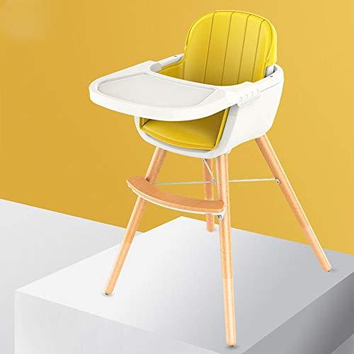 Chaise haute Chaise haute en bois 3 en 1 convertible moderne Chaise haute Solution Avec Coussin, alimentation réglable Chaise haute for enfant / bébé / bébé Chaise haute bébé Chaise haute portable