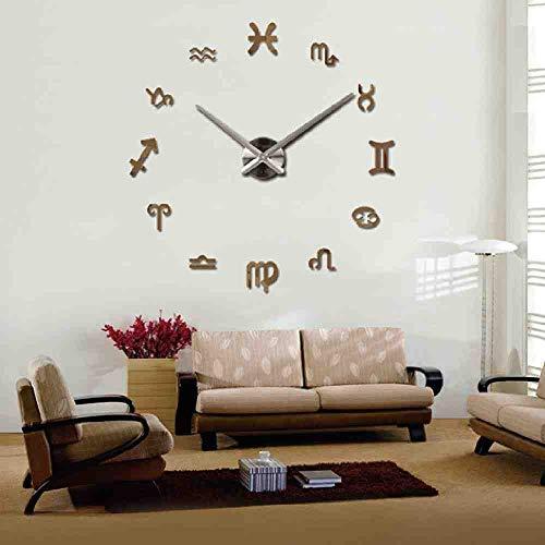 WDQTDY Nieuwe Speciale Aanbieding Wandklok Acryl Spiegel DIY Klokken Grote Huisdecoratie Quartz Horloge Muurstickers Woonkamer Modern Chocolade