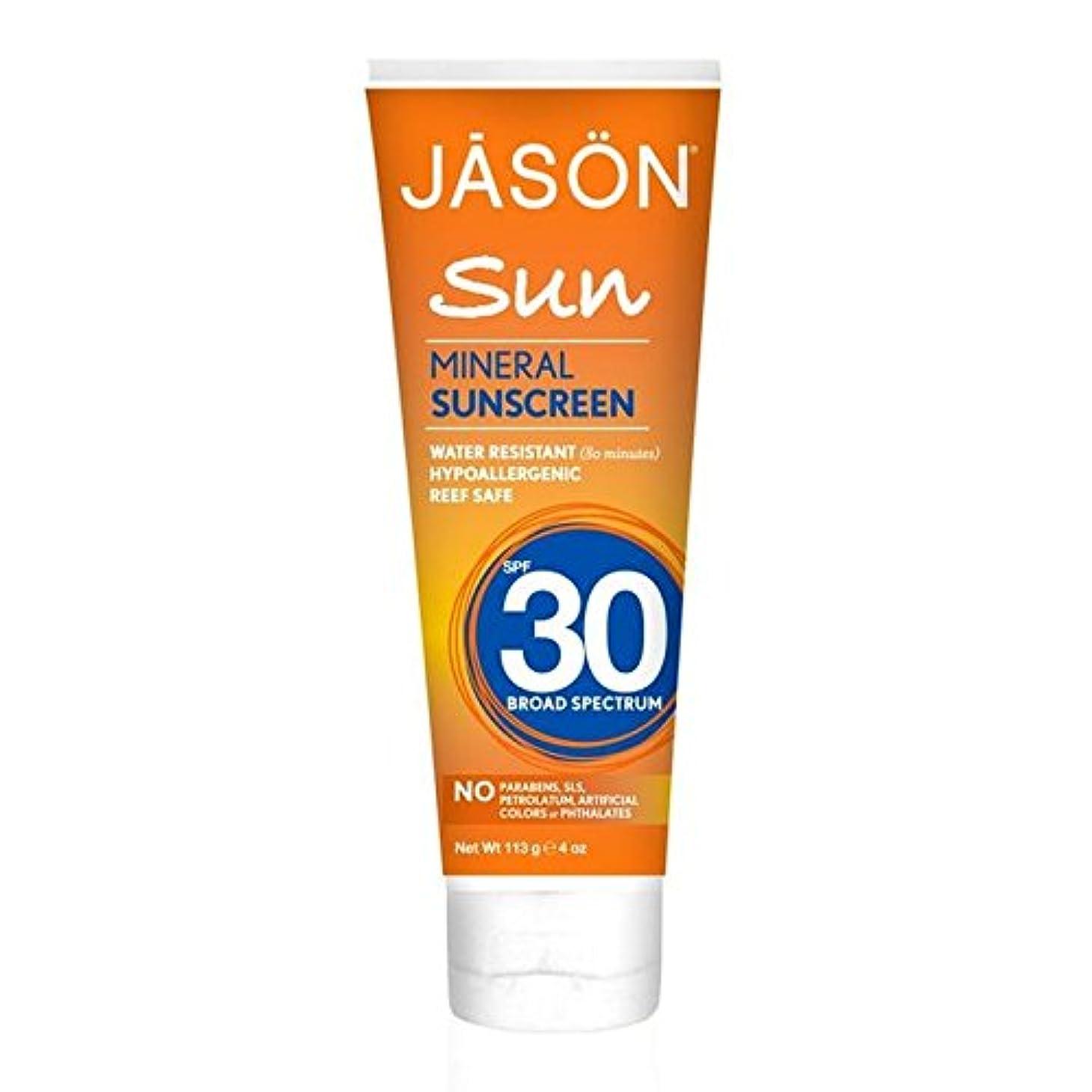 パースかすかな聖なるJason Mineral Sunblock SPF30 113g (Pack of 6) - ジェイソン?ミネラル日焼け止め30の113グラム x6 [並行輸入品]