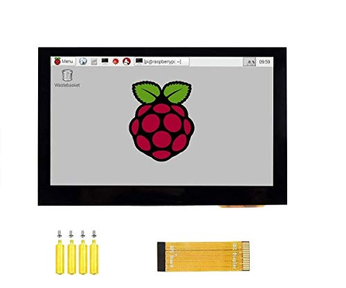 4.3inch DSI LCD Capacitive Touch Screen Display 800×480 Resolution IPS Wide Angle Monitor for Raspberry Pi 4B/3B+/3A+/3B/2B/B+/A+, Supports Ubuntu/Kali / WIN10 IoT
