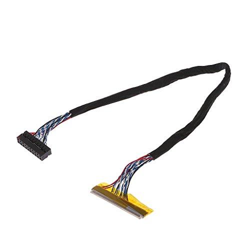 VONGEE Universal FIX 30 Pin 1ch 6bit LVDS Kabel 26cm für 14,1-15,6 Zoll LCD Panel