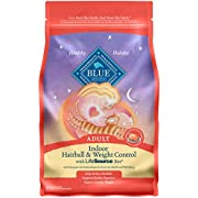 Blue Buffalo Indoor Hairball & Weight Control Natural Adult Dry Cat Food Chicken & Brown Rice 7-lb