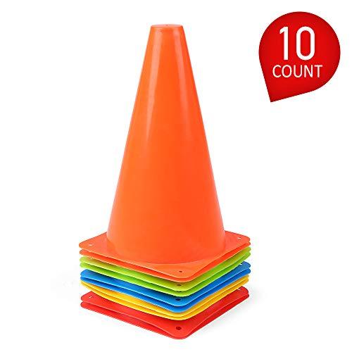 Lixada Verkehrshütchen aus Kunststoff 24 Pack 7 Zoll für Kinder Hause Fußballtraining Fußball 4 Farben