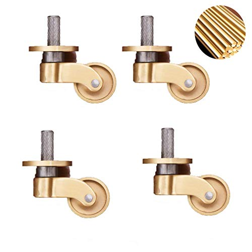 DBYF Piano Caster,Furniture Caster,Pure Brass Material,Suitable for Classical Furniture Suitable for Office Home School Industrial Equipment
