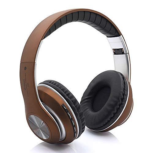 Docooler Auriculares inalámbricos Bluetooth 5.0, Alta fidelidad Estéreo Auriculares Estéreo Inalámbricos Plegables, Diadema Ajustable Ranura para Tarjeta AUX IN TF