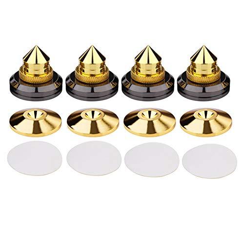 ningdeCK Lautsprecher-Spikes, 4 Sets Zubehör, spurlos, kegellos, Anti-Oxidation, selbstklebend, stoßfest, verschleißfest, langlebig, Reparatur, Subwoofer, CD-Basispolster, Isolation