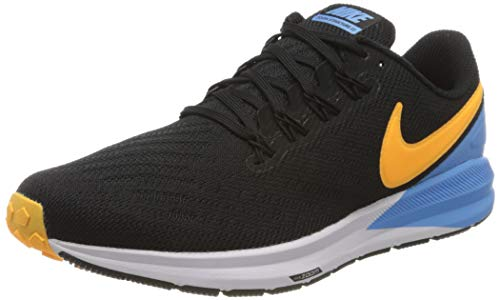 Nike Mens AIR Zoom Structure 22 Running Shoe, Black/Laser Orange-University Blue-White, 40.5 EU