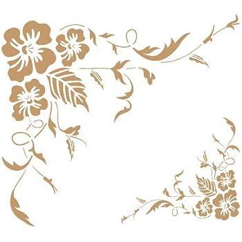 TODO-STENCIL Deco Vintage Composici/ón 093 Chocolate Medida exterior 25 x 25 cm Medida del dise/ño:21 x 19,2 cm Medidas aproximadas