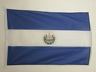 EL SALVADOR FLAG 2' x 3' 户外 - 萨拉维达国旗 90 x 60 cm - 竹条 2x3 ft 针织涤纶带环 - AZ FLAG