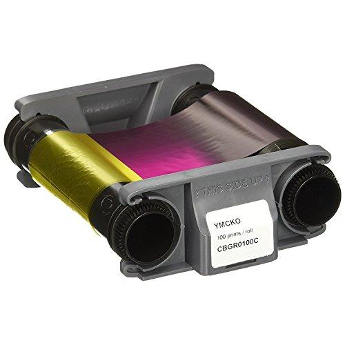 Badgy CBGR0100C - Pack de 100 cintas de color para impresiones