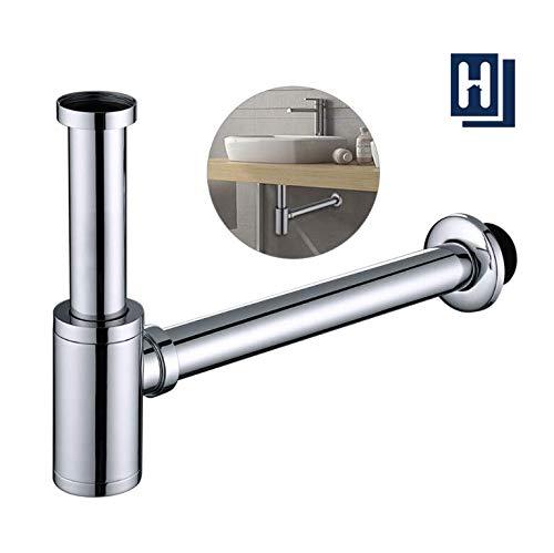 HOMELODY Siphon Waschbecken Edelstahl Syphon mit Universal Geruchsverschluss Sifon Waschbecken bad höhenverstellbar 1-1/4 für Waschbecken Waschtisch