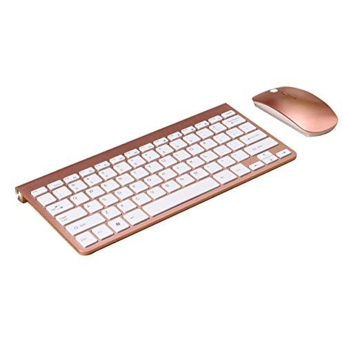 LoveOlvido Ultradunne mini-muis en -toetsenbordset in platte fruitstijl USB draadloze muis- en toetsenbordset VMT-01
