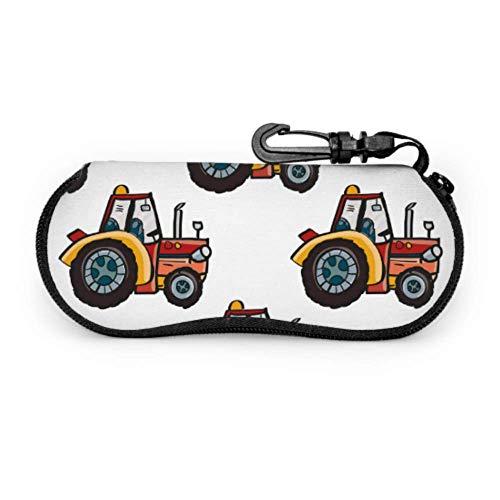 Cartoon Animation Retro Spielzeug Traktor Brillenetui für Männer Etui für Sonnenbrillen Frauen Licht tragbare Neopren Reißverschluss Soft Case Case für Sonnenbrillen für Frauen