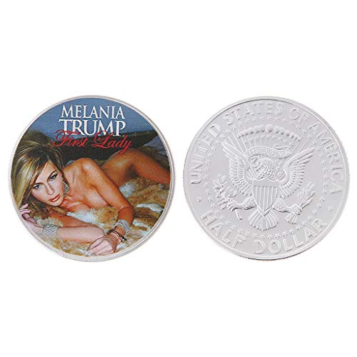 W-Fight United States First Lady Melania Trump Challenge Coin Sexy Model Commemorative Coin,Best Choice For Your Friends AS A Xmas, New Year,Birthday Gift