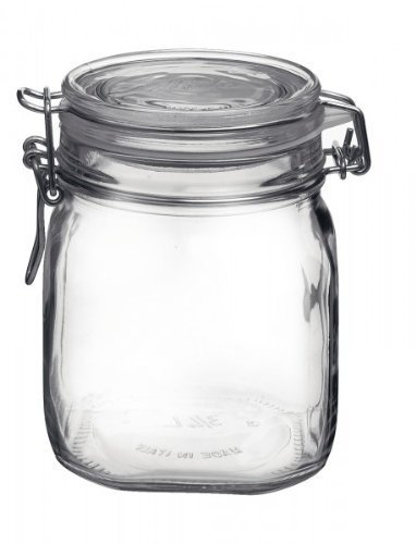 Bormioli 203420 Einmachglas mit Bügelverschluss, Original Fido, 0,75 L
