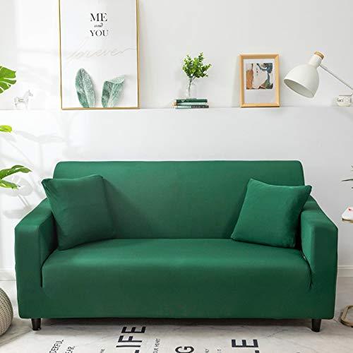 WXQY Funda de sofá monocromática Sala de Estar elástica Funda de sofá elástica combinación de Esquina Chaise Longue sillón Funda de sofá A27 4 plazas