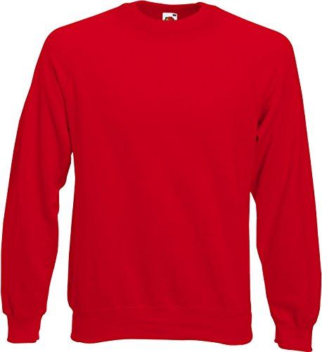 Fruit of the Loom Men's Raglan Sweatshirt Red M