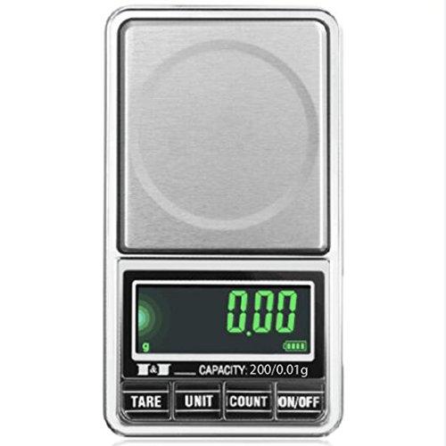 Elektronische digitale LCD-Taschenwaage USB-Schnittstelle Jewelry Waage Mehrzweck Küche Maßstab, 2, 200/0.01g