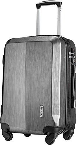 Shaik® Professional, SIN Größe M Handgepäck Boardgepäck Koffer | 32 Liter | Größe L34 x B23 x H50cm | Gewicht: 3,26 kg | TSA Schloss | SH009 (Space Grau)