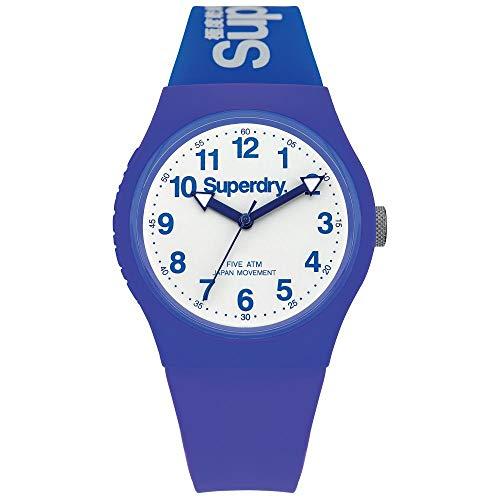 SUPERDRY Reloj Analogico para Unisex de Cuarzo con Correa en Silicona SYG164U