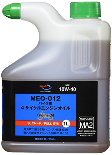 AZ(エーゼット) MEO-012 バイク用 4サイクルエンジンオイル【10W-40 SL/MA2】1L 全合成油(EG041)