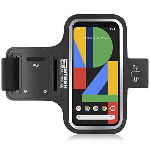 All Things Accessory Brazalete Deportivo Google Pixel 2 - Correa Ajustable Extralarga, Portacables para Llave/Auricular y Bolsillo para Tarjeta - también Compatible con Google Pixel