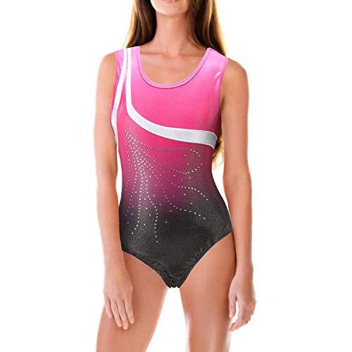 Lixada Body da Ballo per Ragazze Senza Maniche Compresso Asciugatura Rapida Traspirante Vestito da Balletto Adatto per 5-14 Anni per Danza la Ginnastica Ritmica