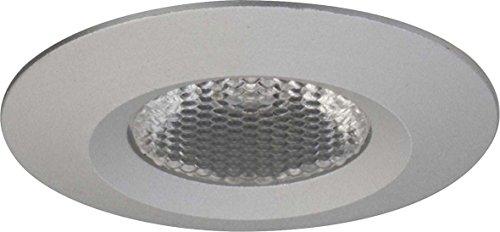 LED Lichtpunkt, IP44, Ø 4.2cm, Plug&Play 350mA, 1.2W 3000K 70lm 36°, Alu matt/Linse klar, strukturiert
