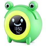 YISUN Sveglia Digitale da Comodino,Sveglia Bambini da Comodino con 5 Colori Wake-up Light Sveglia Ricaricabile USB,Funzione Snooze