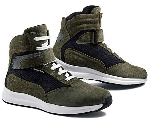 Stylmartin Motorrad Sneaker AUDAX grün Leder wasserdicht AirMesh Protektoren CE, 41