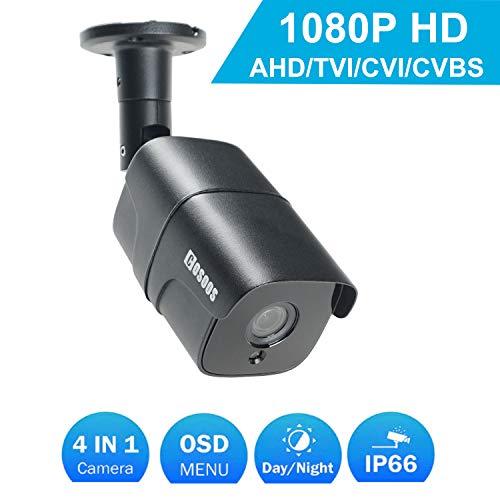 Cámara de Bala Interior/Exterior de 1080P, cámara de vigilancia CCTV de Seguridad a Prueba de Polvo a Prueba de Polvo a Prueba de Polvo a Prueba de Intemperie a Prueba de Intemperie