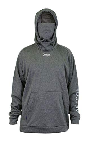 AFTCO Reaper Technical Fleece Hoodie - Charcoal Heather - Large