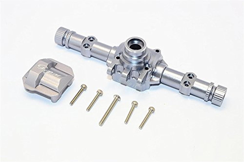 Axial SCX10 II Tuning Teile (AX90046, AX90047) Aluminium Front Rear Axle Housing With Cover - 1 Set grau Silber