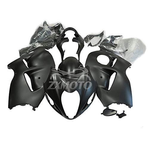 ZXMOTO Matte Black Motorcycle ABS Bodywork Fairing Kit for Suzuki GSXR 1300 Hayabusa 1999 2000 2001 2002 2003 2004 2005 2006 2007