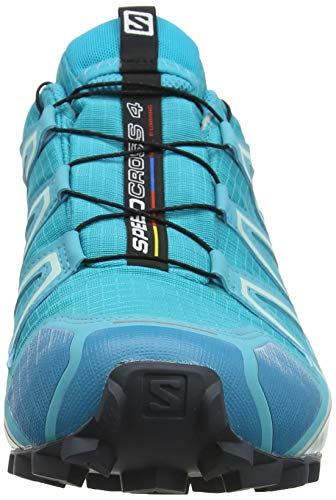 Salomon Speedcross 4 GTX Zapatillas Impermeables De Trail Running Mujer, Azul (Bluebird/Icy Morn/Ebony), 38 2/3 EU