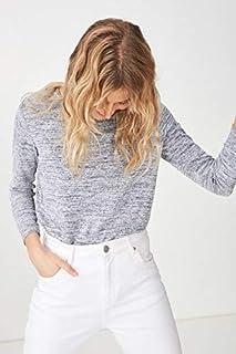 Cotton On Women's Comfy Long Sleeve Top, Medium, Greys Twist