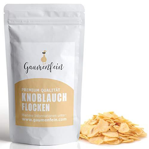 GAUMENFEIN® Knoblauch Flocken - Ersatz für frischen Knoblauch - als Topping für Salate - 100% natürliche Premium Qualität - 250g