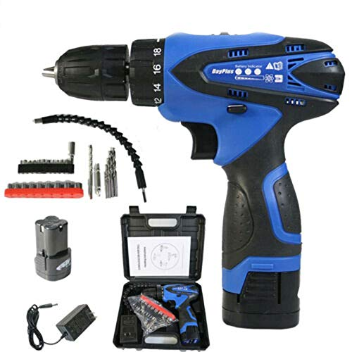 Cordless Drill Driver 16.8V 35N.m Cordless Combi Drill and Impact Driver Starter Kit,2-Speed Trigger/Built-in LED,18+1 Torque Setting,Fast Charger/Carrying Case
