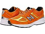 New Balance Men's W990V5 Running Shoe, Size: 7 Width: D Color: Orange/Hilite