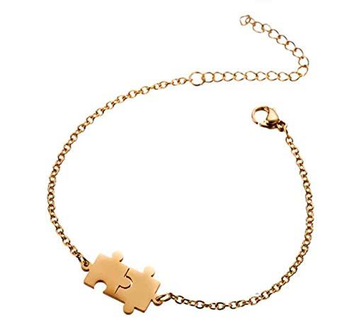 Zijn en haar Unisex armband, paar bijpassende sieraden, puzzel ontwerp, verlenging ketting