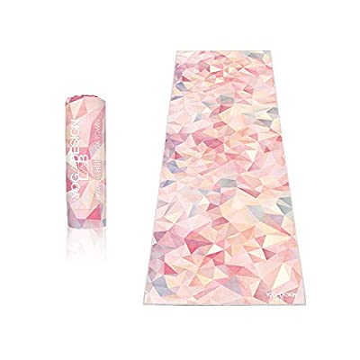 YOGA DESIGN LAB | The HOT Yoga Towel | Premium Non Slip Colorful Towel | Designed in Bali | Eco Printed + Quick Dry + Mat Sized | Ideal for Hot Yoga, Bikram, Ashtanga, Sport, Travel!