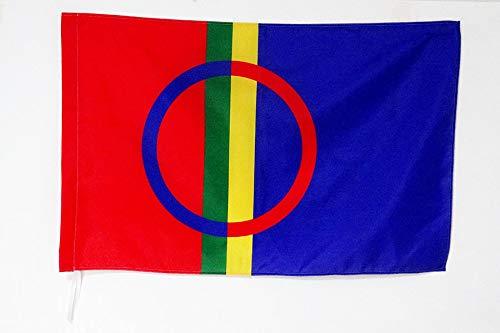 AZ FLAG Flagge SAMEN 150x90cm - Lappen SAMISCHE Fahne 90 x 150 cm Scheide für Mast - flaggen Top Qualität