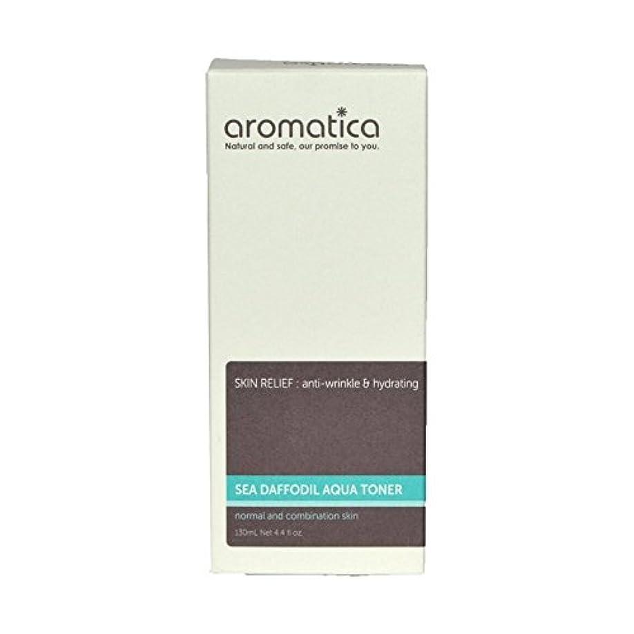 対立前皿海スイセンアクアトナー130ミリリットル x4 - aromatica Sea Daffodil Aqua Toner 130ml (Pack of 4) [並行輸入品]