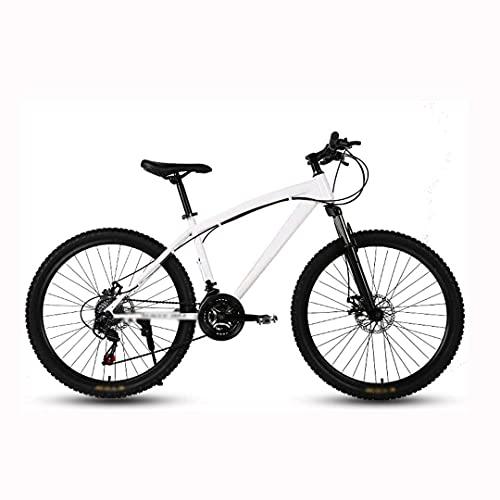 HUAQINEI 24-inch mountain bike, beach snow bike, double disc brake bike, aluminum alloy wheels bicycle mountain bike adjustable seat,Pink,21 speed