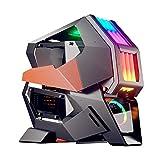 XINKO Caja de PC Gaming, Carcasa de Torre Completa para Juegos con diseño Exclusivo de subchasis Desmontable