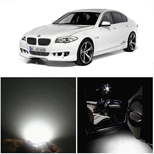 WLJH Lot de 19 ampoules LED blanches pour intérieur de voiture F10 Série 5 2010 + 550i 535i 528i M5